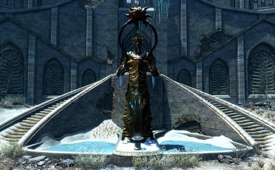 AURI-EL SKYRIM - la statua di Auriel