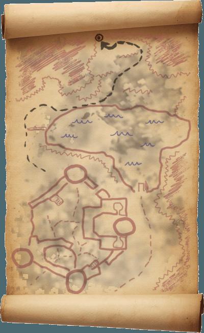 Mappa del Tesoro di Forte Neugrad