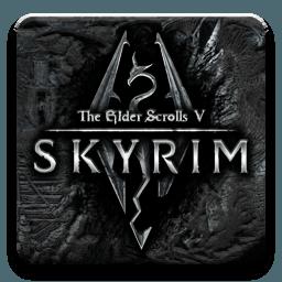 Skyrim logo murales
