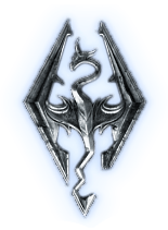 icon skyrim logo luminoso